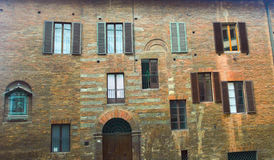 The front of the old house, Siena. Stock Images