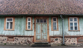 Front of an old house in Viljandi Royalty Free Stock Photography