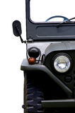 Front of old jeep Stock Photography