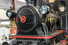 Front of the old locomotive.