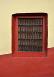 Front of an old mexican house - Colonial style window Royalty Free Stock Photos