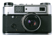 Front of old  photo camera Royalty Free Stock Photography