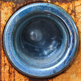 Front of an old washing machine Stock Photos
