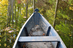 The front of an old wooden boat. Stock Image