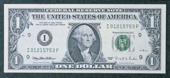 Front of a one dollar bill Royalty Free Stock Photo