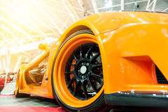 Front of an orange generic sport car Royalty Free Stock Photography
