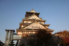 In front of osaka castle.  Stock Images
