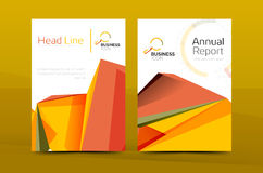 A4 front page business identity. For annual report, Corporate brochure leaflet and abstract geometric background with headline royalty free illustration