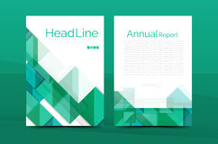 A4 front page business identity. For annual report, Corporate brochure leaflet and abstract geometric background with headline vector illustration