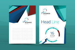 A4 front page business identity. For annual report, Corporate brochure leaflet and abstract geometric background with headline stock illustration