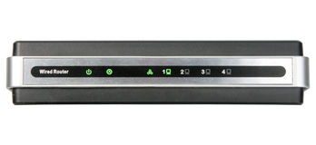 Front panel of network wired router Stock Images