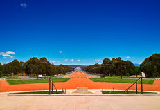 The front of Parliament house of Canberra Stock Photo