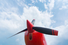 The front part of the aircraft. The front part of the aircraft with a propeller royalty free stock images