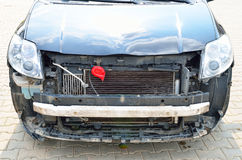 Front part of the car dismantled  Royalty Free Stock Photography