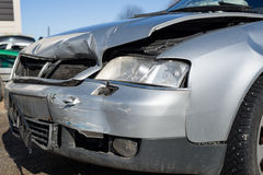 Front part of a crashed car wreck Royalty Free Stock Photography
