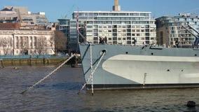 HMS Belfast war ship in London