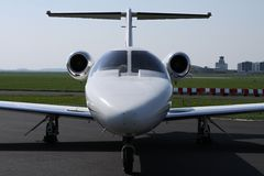 Front part of light business jet Stock Image