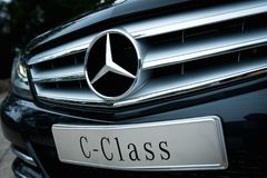 Front part of the Mercedes Benz Royalty Free Stock Image