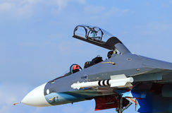 Front part of military jet Royalty Free Stock Images