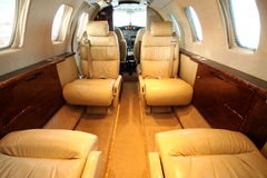 Front Part Of Small Jet Cabin Royalty Free Stock Image