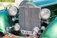 The front part of a retro car Packard Convertible Sedan 1934 year Stock Image