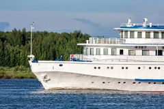 The front part of a passenger ship. The front part of a river passenger ship royalty free stock images