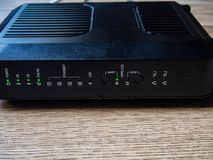 Front part of router. On stock photo
