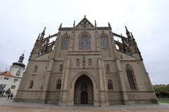 Front part of St.Barbara Cathedral Royalty Free Stock Photography