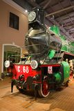 Front part of a steam locomotive C.68 Sormovsky close-up royalty free stock photo