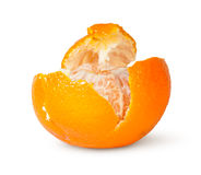 In Front Partially Purified Tangerine Royalty Free Stock Images