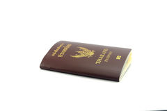 Front Passport White Background Foto de Stock Royalty Free