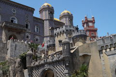 Front of Pena Castle in Sintra Stock Image