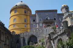Front of Pena Castle in Sintra, Portugal Royalty Free Stock Images