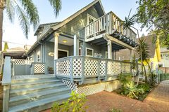 Front perspective of a wonderful cottage home. Amazing cottage style home in San Diego southern California Stock Photo