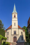Front of the Petri church in Minden Royalty Free Stock Photos
