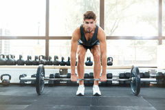 Front photo of athletic man royalty free stock photos
