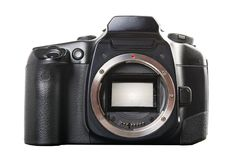 Front of photo camera Royalty Free Stock Photo