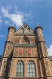 Front of the Pieterskerk church in the center of Leiden Stock Photos