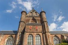 Front of the Pieterskerk church in the center of Leiden Stock Photo