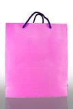 Front of pink paper Bag on reflect Royalty Free Stock Photo