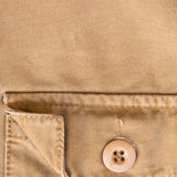 Front pocket on brown shirt textile texture Royalty Free Stock Photography