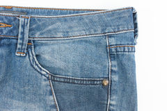 Front pocket of jean. Stock Photos