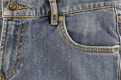 Front pocket of jeans. Stock Image