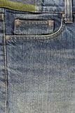 Front pocket of jeans. Royalty Free Stock Images