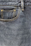 Front pocket of jeans. Royalty Free Stock Photo