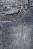 Front pocket of jeans. Stock Images