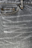 Front pocket of jeans. Royalty Free Stock Photos