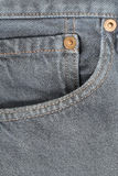 Front pocket of jeans. Stock Photography