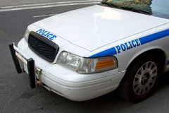 Front of Police car stock photo
