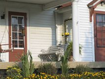 Front Porch. A urban American front porch Royalty Free Stock Photography